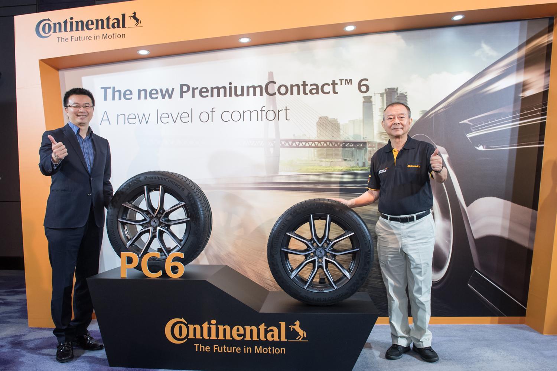 德國馬牌輪胎 PremiumContact 6 正式登台!右蔡明恩業務協理 , 左盧明寬總經理