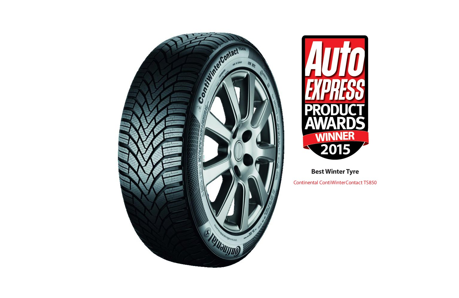 ContiWinterContact TS850 is Auto Express 'Best Winter Tyre'