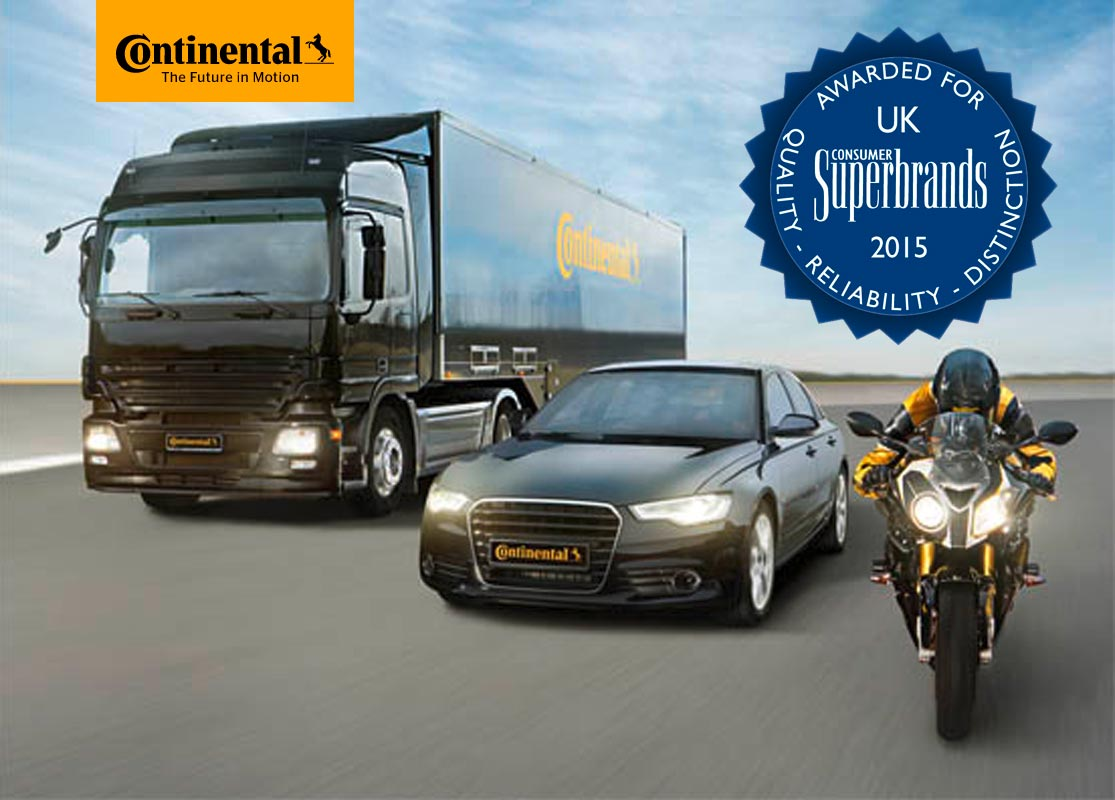 Continental Tyres voted a Consumer Superbrand 2015