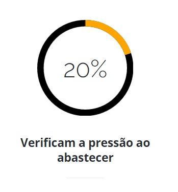 20% Verificam a pressão ao abastecer