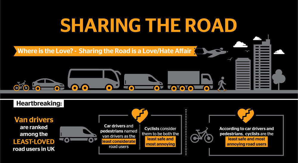 Sharing the Road survey infographic