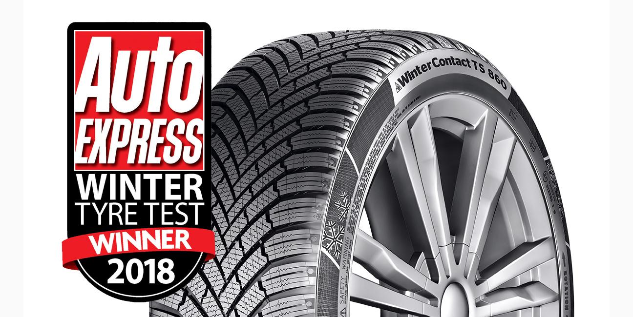 Auto Express Winter Tyre Test Winner 2018 - WinterContact TS 860 banner