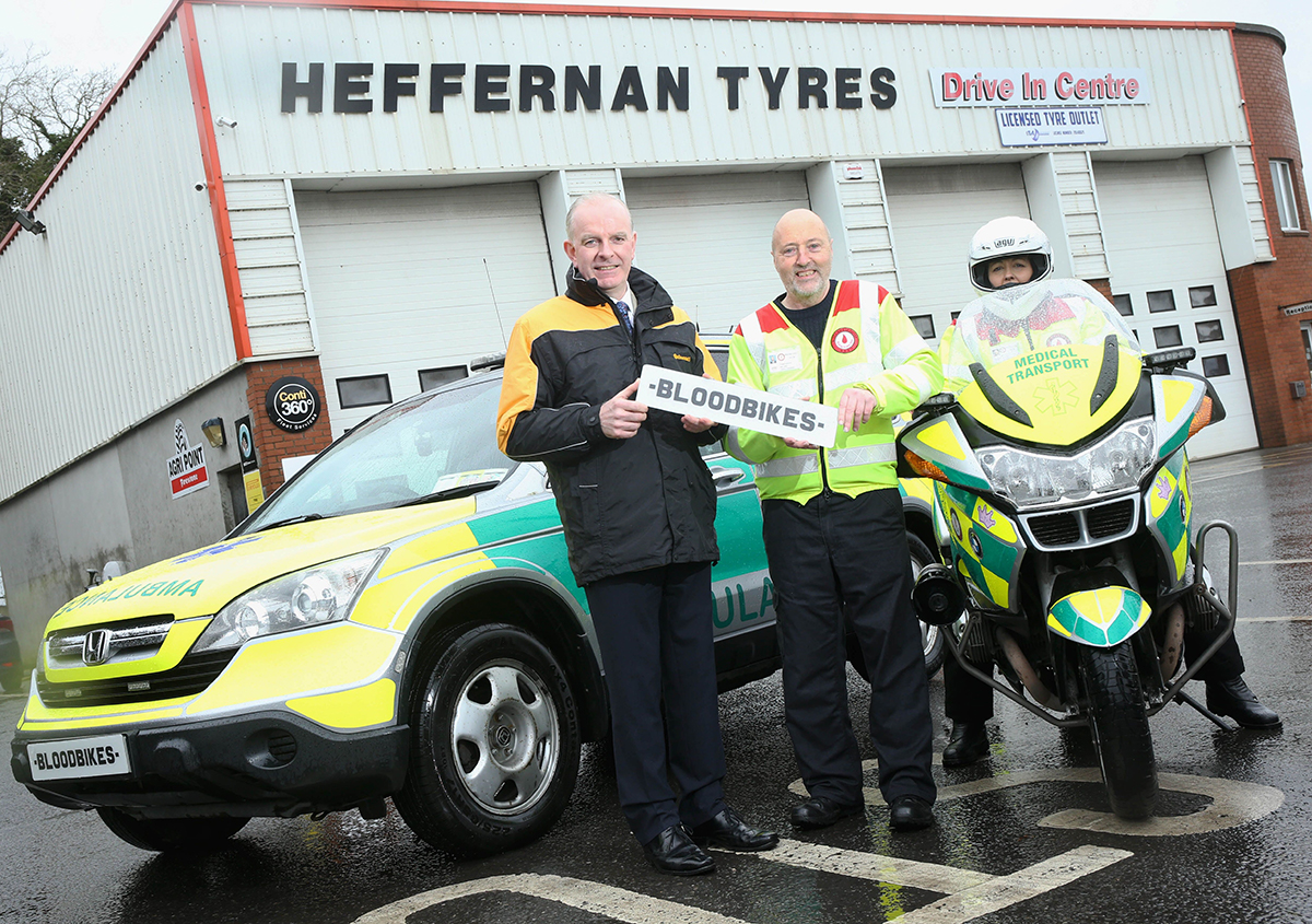 Continental Tyres Seals Deal with Blood Bikes