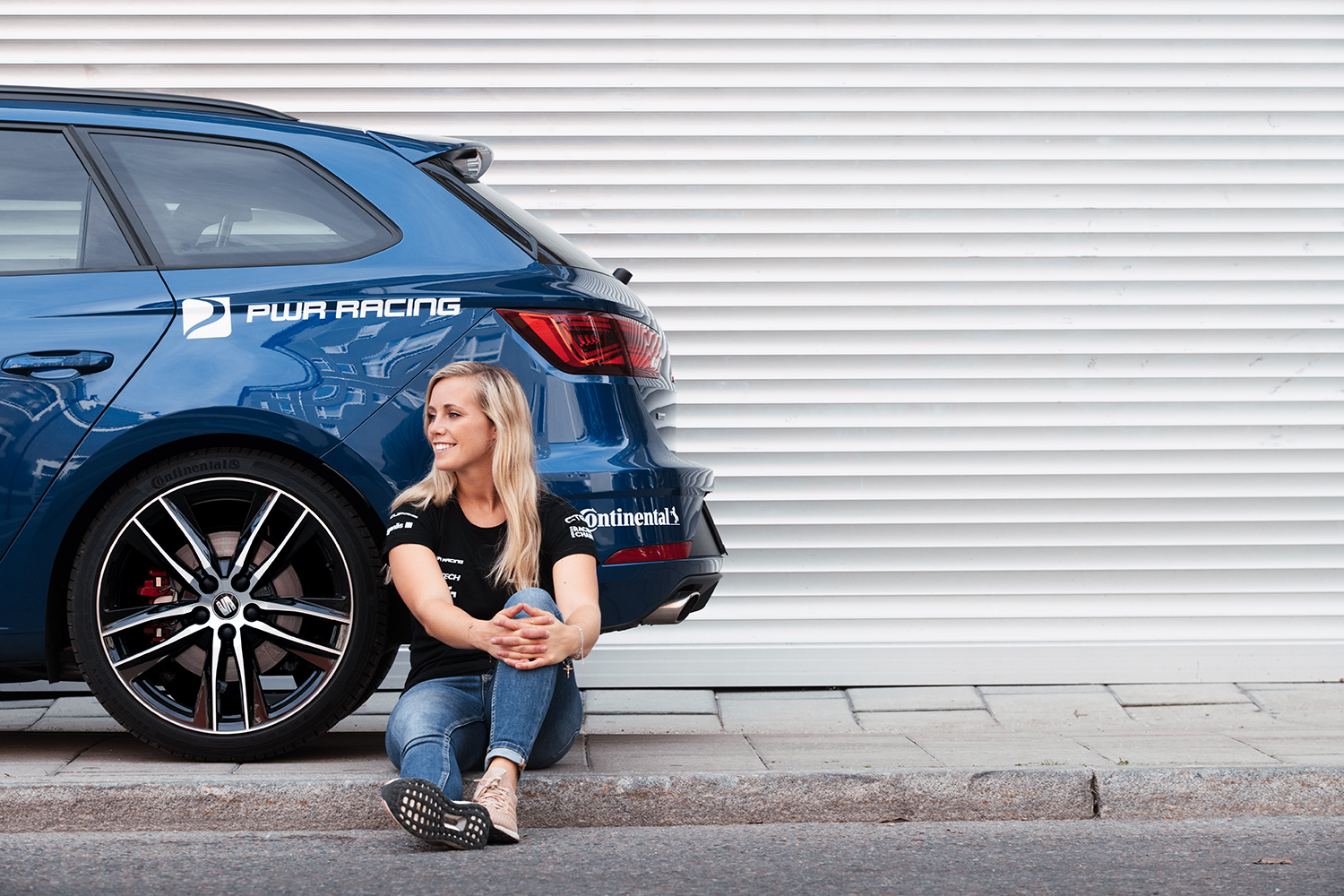 Swedish racing driver Mikaela Åhlin-Kottulinsky is test driver for Continental's Extreme E tyres