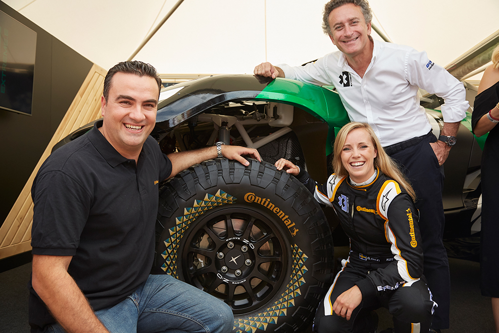 World premiere of Extreme E electric SUV with Continental tyres at Goodwood Festival of Speed