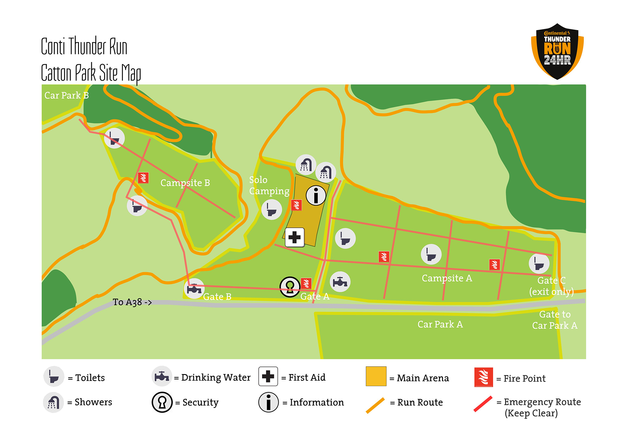 Conti Thunder Run 2020 site map