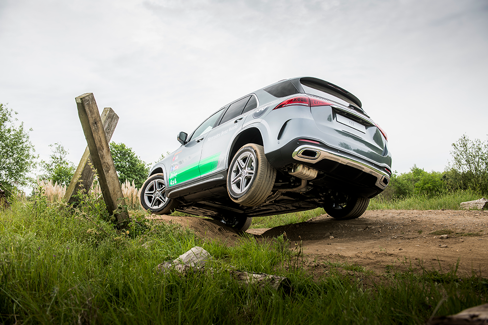 Mercedes-Benz GLE with off-road tyres