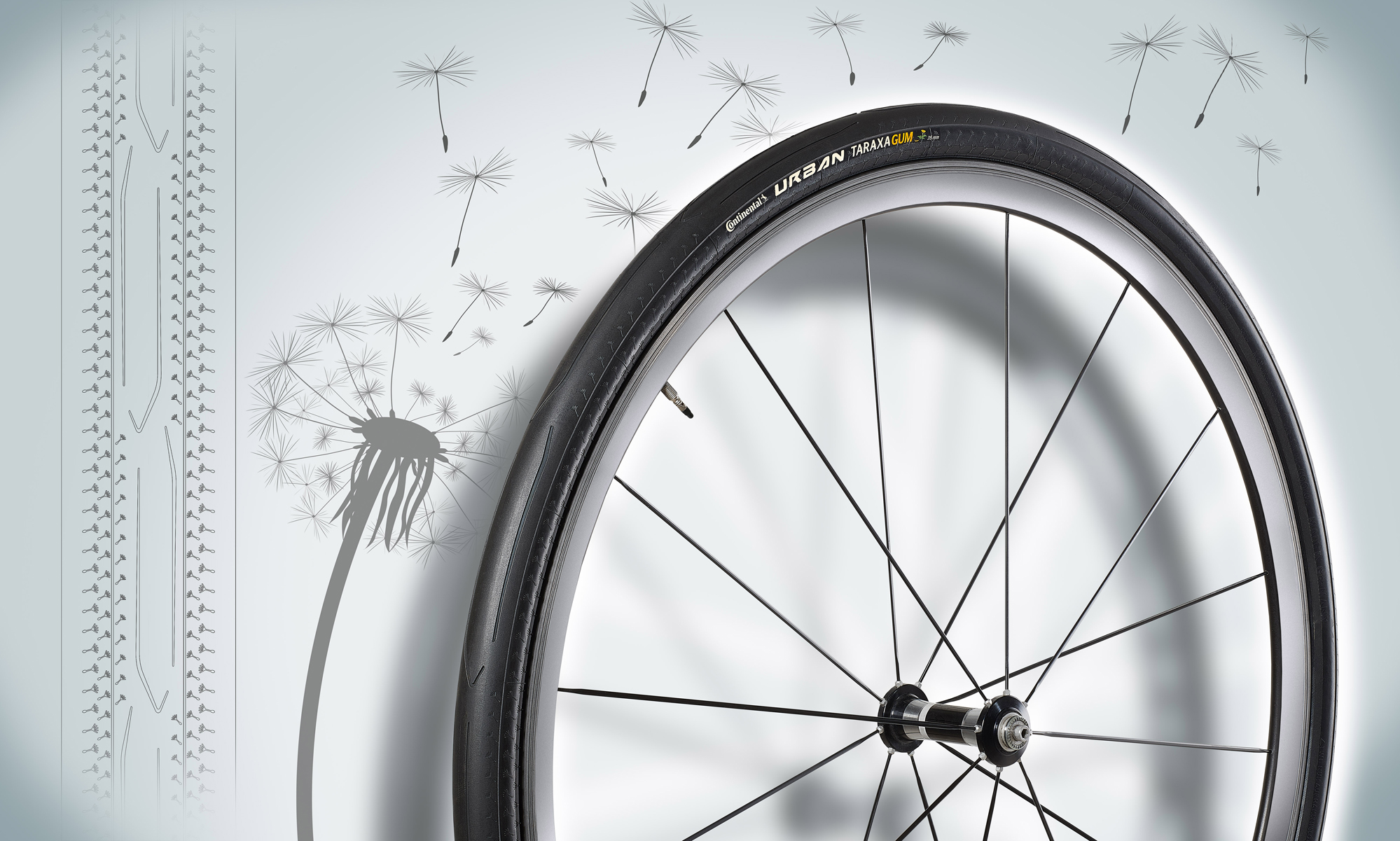 Continental Urban Taraxagum dandelion bicycle tyre image