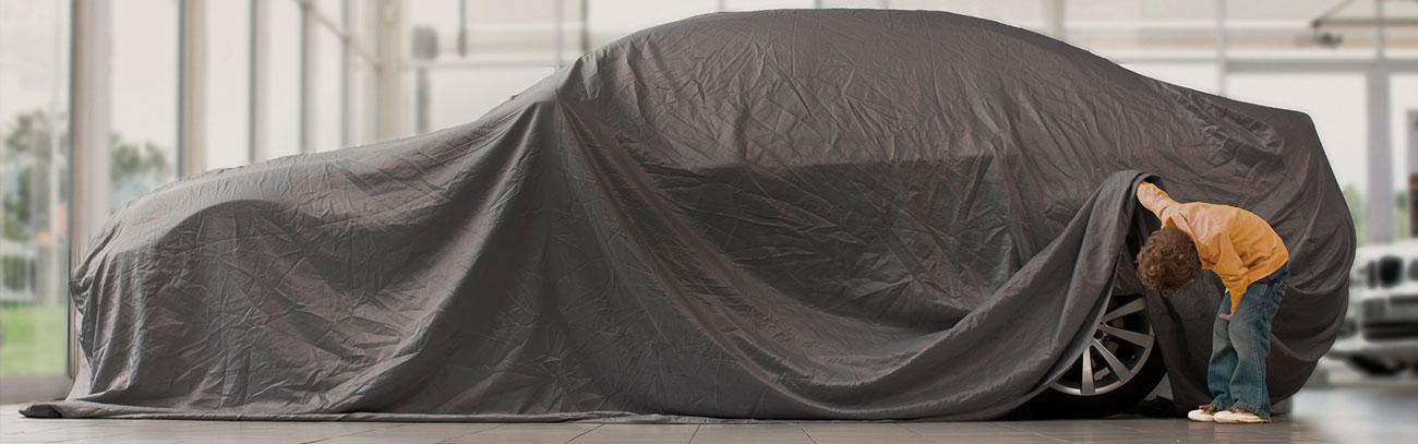 Comemore fazer parte da família Continental (imagem carro coberto e criança espiando os pneus)