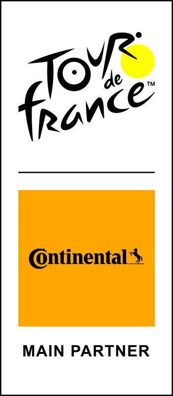Logo Tour de France 2020  -  Logo Continental Pneus (patrocinador Oficial)