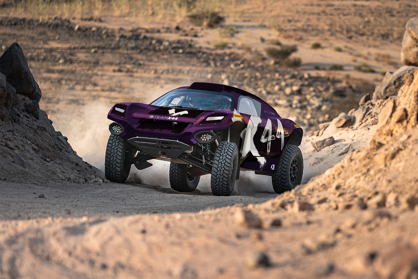 Avec cette voiture, l'équipe X44 de Hamilton prendra le départ dans l'Extrême E