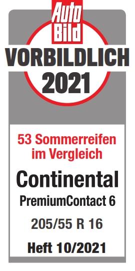 Auto Bild Sommerreifentest 2020 Testsiegel PremiumContact 6