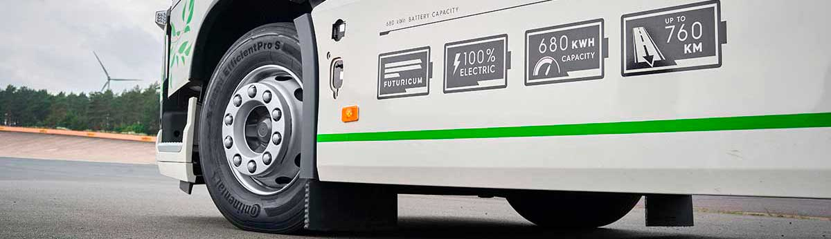 Tires for Electric Vehicle (picture of a commercial eletric vehicle with Continental Tire)