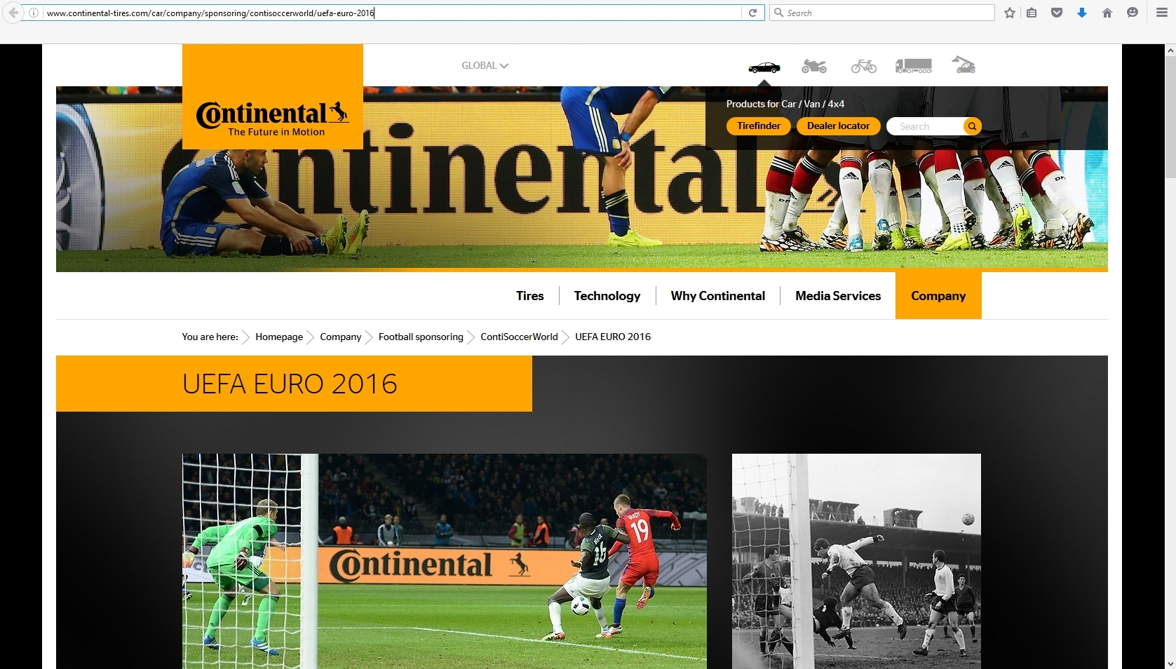 ContiSoccerWorld website
