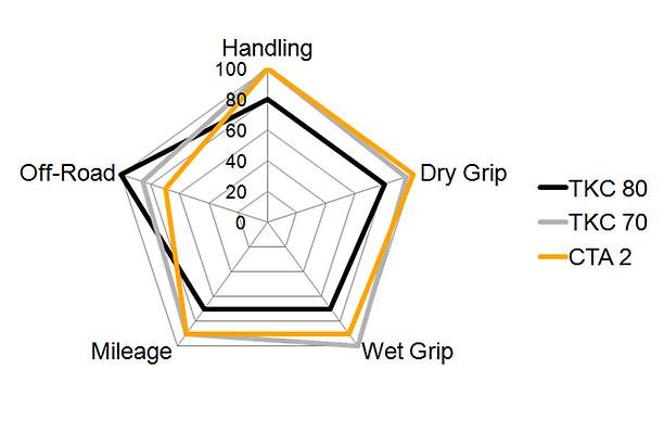 Neumático trasero para pistas Spider-diagramm-enduro-segment