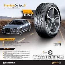 Llanta Ecuador Contiental PremiumContact 6 Un nuevo nivel de confort