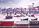 Blocklager auf dem Containerterminal Burchardkai