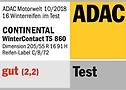 """Der WinterContact™ TS 860 wurde beim ADAC mit """"gut"""" bewertet."""