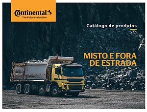 Catálogo Misto e Fora de Estrada Continental (Imagem caminhão em carregado de pedras em pedreira)
