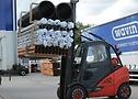 CSEasy SC20+ su carrello elevatore Linde presso Wavin Plastics GB