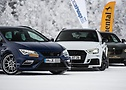 Hot on ice: The Seat Leon Cupra300ST 4drive, the Abt Audi RS3 and the Hamann BMW X4 M40i.