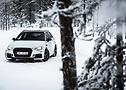 Bianco e caldo: la Abbot RS 3 è andata visibilmente bene. I 500 CV hanno sollevato un sacco di neve.