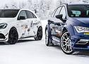 Chi è più veloce sulla neve? La Leon ST Cupra 300 e l'AMG Lorinser LA50 nel test.