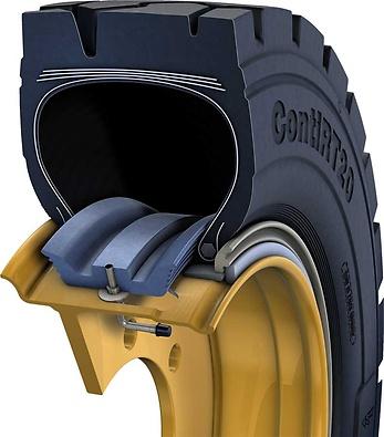 Continental Tubeless Sealing Ring (TSR) (foto 3D de corte do pneu com anel aplicado)