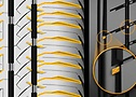 Pneu Original Nissan Kicks - PowerContact - Detalhe tecnologias (WWI & canais 3D)