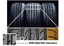 Pneu Original Nova Strada - ContiPowerContact 2 - Detalhe Tecnologia WWI (Indicador Desgaste no Molhado)