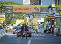 Team Ineos riders Michal Kwiatkowski and Richard Carapaz finishing stage 18 together at Tour de France 2020