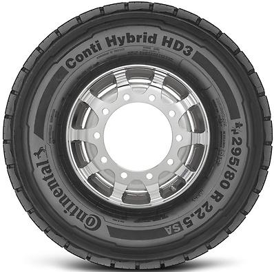 Conti Hybrid HD3: Pneu trativo - Mercadoria 295/80 R22.5 (Foto visão lateral)