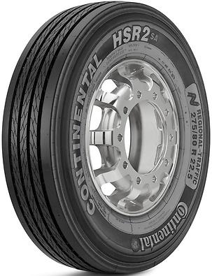 HSR2: Pneu liso - Mercadoria 275/80 R22.5 (Foto visão diagonal)