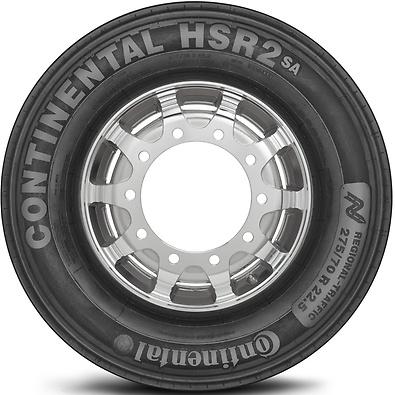 HSR2: Pneu liso - Mercadoria 275/70 R22.5 (Foto visão lateral)