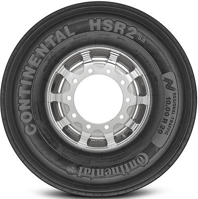 HSR2: Pneu liso - Mercadoria 10.00 R20 (Foto visão lateral)