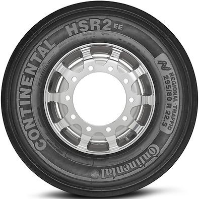 HSR2 EE: Pneu liso - Mercadoria (Foto visão lateral)