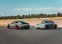 Mit Top-Speed durchs Contidrom: die Porsche von 9FF.