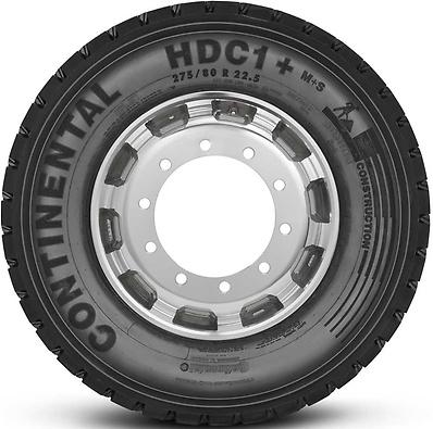 HDC1+ : Pneu trativo - Construção - 275/80 R22.5 (Foto visão lateral)