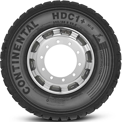 HDC1+ : Pneu trativo - Construção - 295/80 R22.5 (Foto visão lateral)