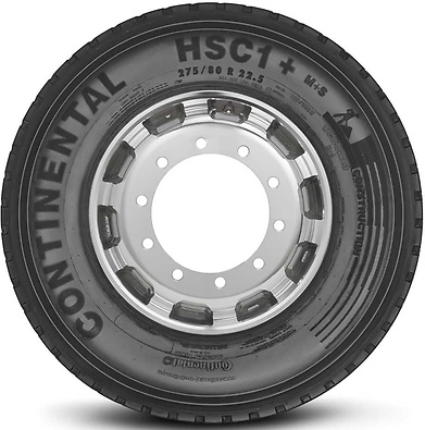 HSC1+ : Pneu direcional - Construção - 275/80 R22.5 (Foto visão lateral)
