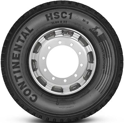HSC1+ : Pneu direcional - Construção - 11.00 R22.5 (Foto visão lateral)