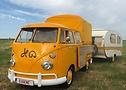 Dieser Bus wurde zur Feier des 100-jährigen Bestehens des Gelben Trikots auf den Namen Eugene getauft