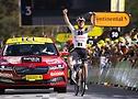 Marc Hirschi ganando la etapa 12 sobre neumáticos Continental - Tour de France 2020 - PresseSports Bernard Papon