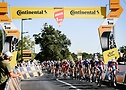 Riders passing Flamme Rouge at Tour de France 2020 - A.S.O. Pauline Ballet
