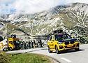 Continental Caravan passing through mountains at Tour de France 2020 - A.S.O. Charly López