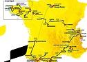 Mapa da competição Tour de France 2021