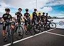 Jóvenes cadetes en la línea de salida del Tour de Francia. ASO/Pauline Ballet.