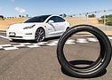 Foto do Tesla Model 3 Performance calçados com pneu com tecnologia ContiSilent - Foto 5