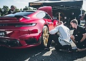 Papenburg 3000 – Lamborghini Huracan Heckansicht mit Tuning Partner und Continental Crew