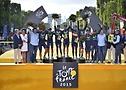 Movistar Team on Tour de France-Podium